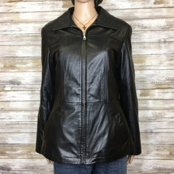 Wilsons Leather Jackets & Blazers - Fitted Wilsons Leather black leather jacket